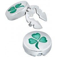 GT2059 - Pair of Shamrock Button Covers Sterling Silver Ari D Norman