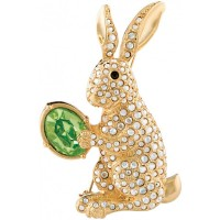 JB162   Gold Plated Easter Bunny Brooch Jewelari of London