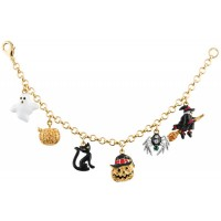 JBT16   Gold Plated Halloween Charm Bracelet Jewelari of London