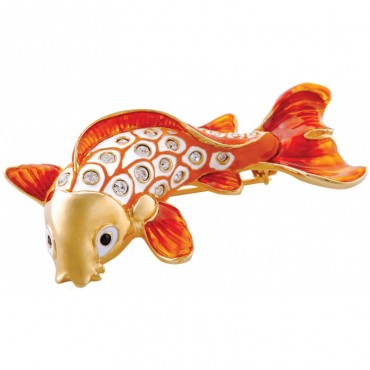 JB171   Gold Plated Koi Fish Brooch Jewelari of London