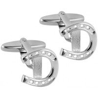 CU481 Ari D Norman Sterling Silver Horseshoe Cufflinks